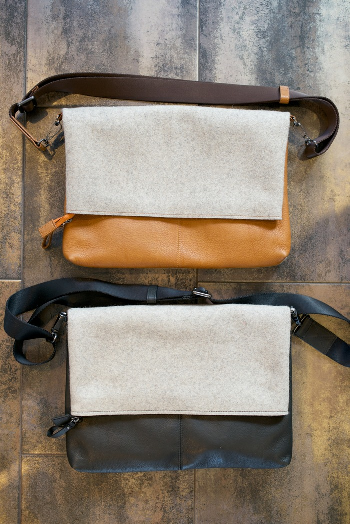Felt side with flap down