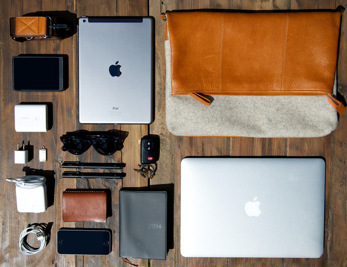 Messenger Bag with Daily Essentials