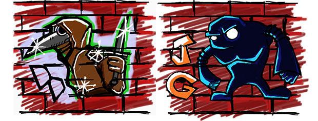 Darkest Dungeon + Juggernaut Games custom graffiti