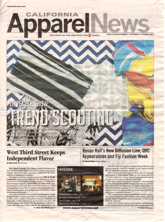 HFF featured in California Apparel News