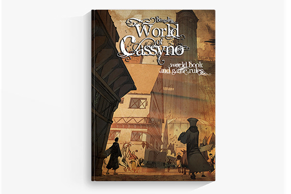(cover mockup only; book included in game box)