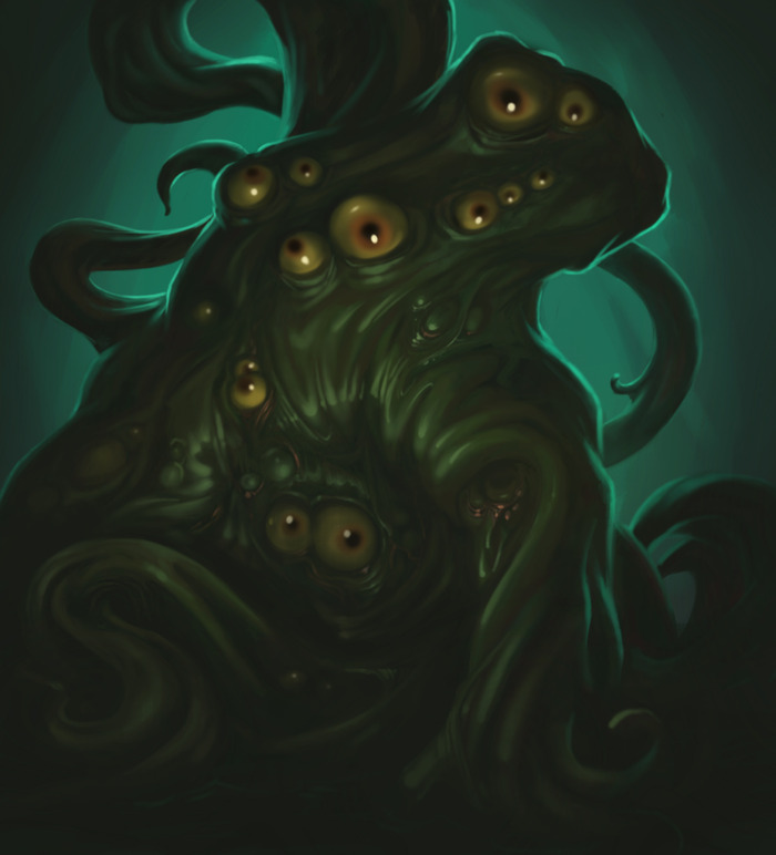 One of the most hideous and horrible of your possible foes: a shuddering, shambling Shoggoth.