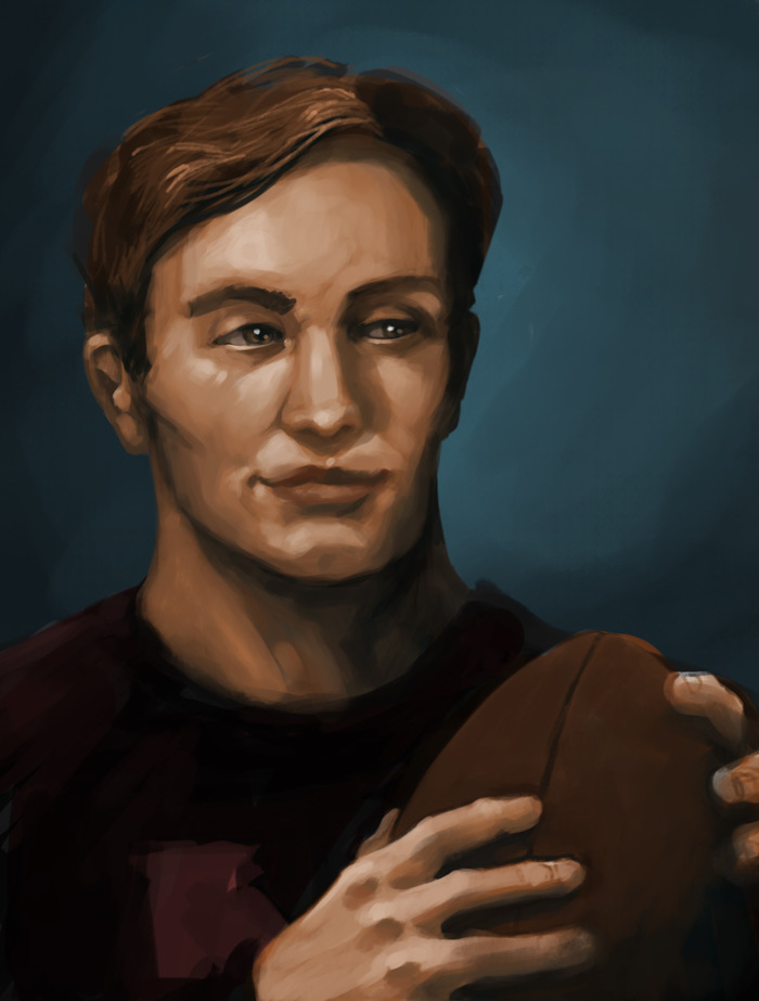 Nelson Blake, a suspicious looking student. Click through to see more character sketches!
