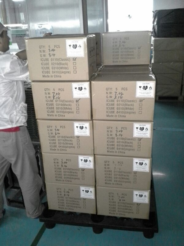 Loading all the master cartons on palettes.