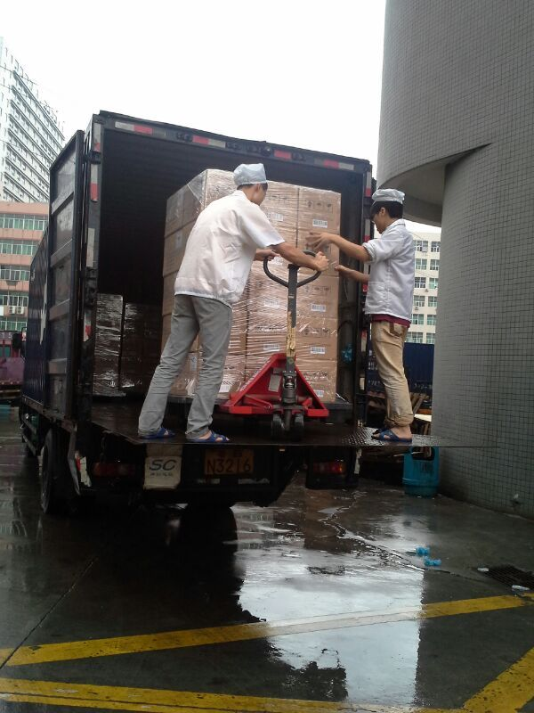 Getting ready to deliver them and clear China customs.