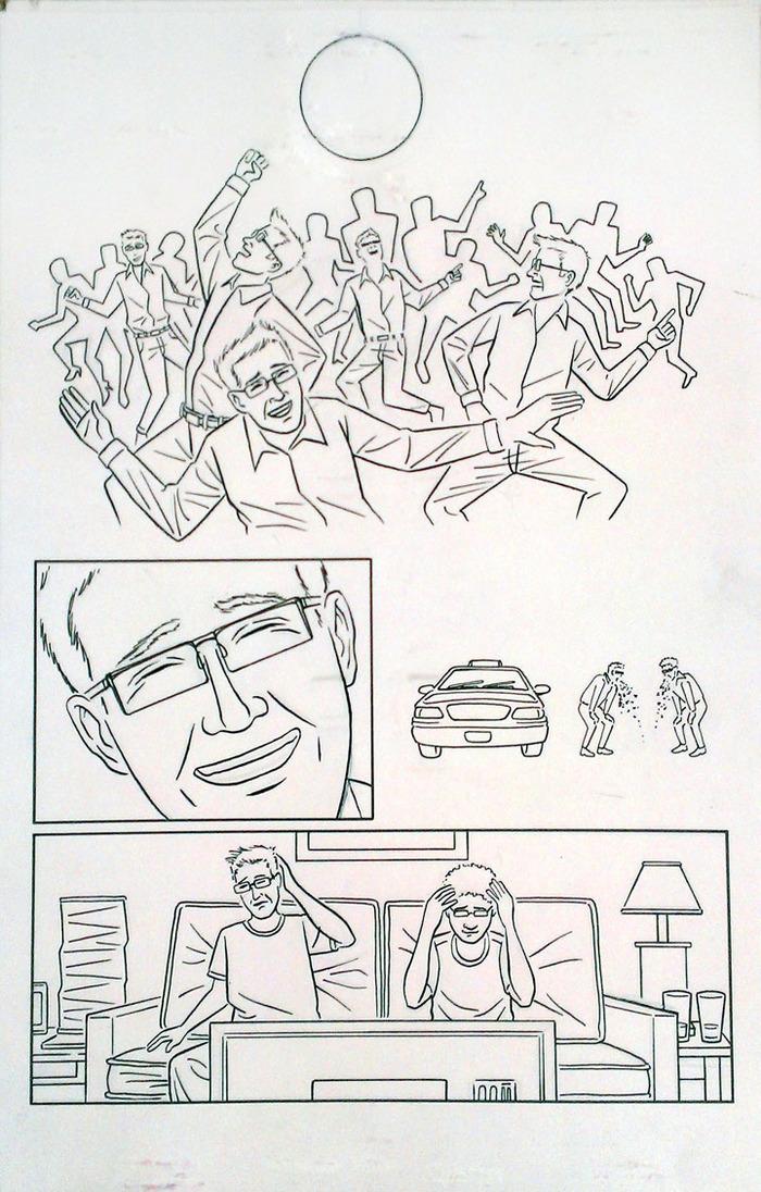 Original art from SCHMUCK by George Jurard, offered as a reward.
