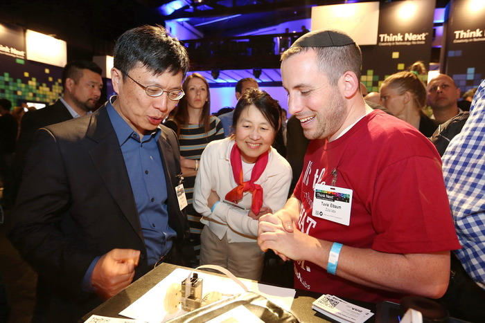 Dr. Harry Shum Executive Vice President Technology and Research, Microsoft loving the ZUtA Pocket Printer