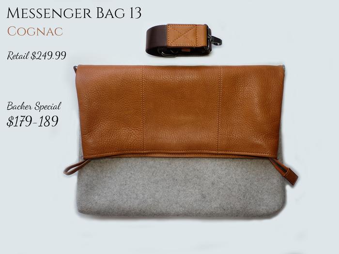 Messenger Bag 13 Cognac
