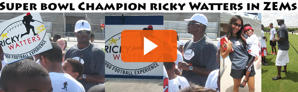 VIDEO: Super Bowl Champion Ricky Watters in ZEMs at a Youth Training Camp