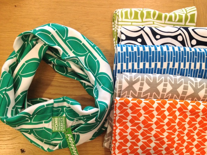 Infinity Scarves in each Emerald City fabric