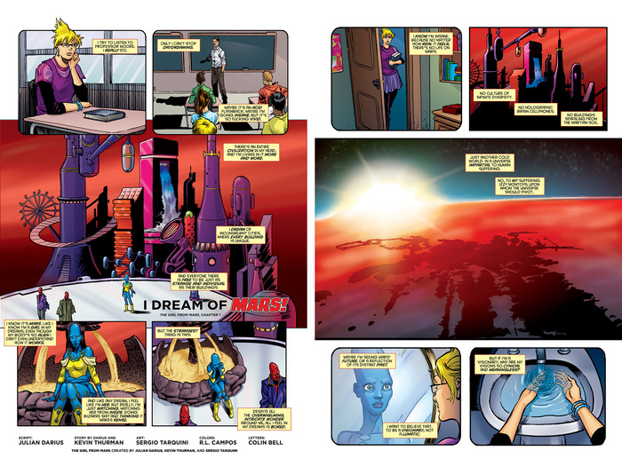 Pages 1 and 3 of the 26-page first issue.