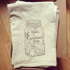 """""""Yeah I Pickled That"""" Tea Towel by Hip Girls Guide to Homemaking"""