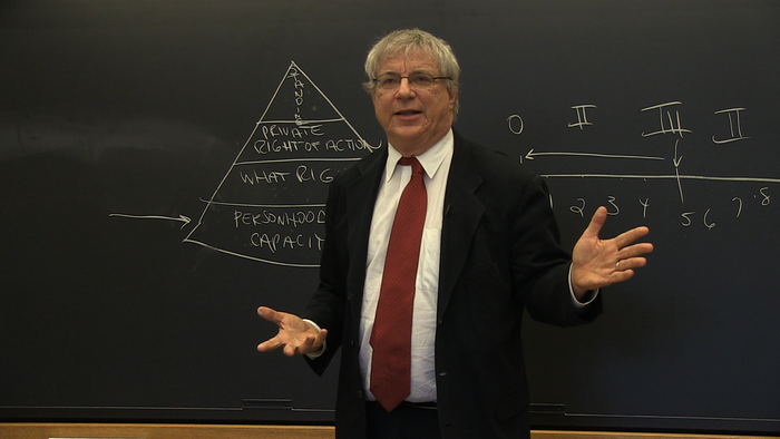 Steve Wise lecturing at Harvard Law School