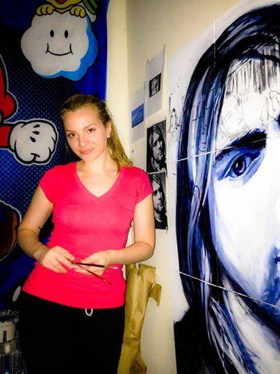 Me in the studio working on Kurt!