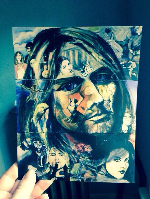 """6x8"""" Semi Gloss Postcard.  All completed """"27 Club"""" paintings available"""