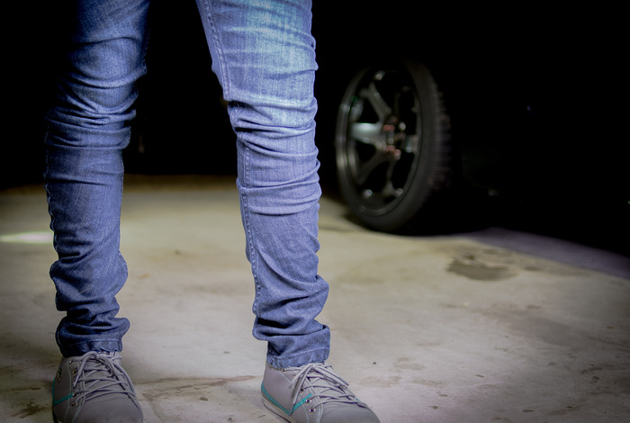Shadow Jeans shown