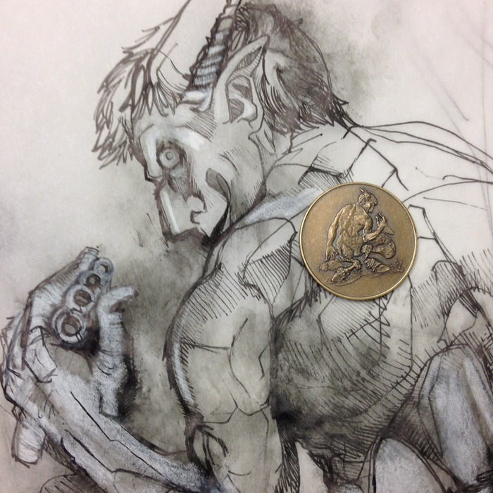 Satyr, Chaotic Neutral, 50 Denomination with original concept art