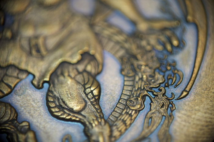 Detail of the Half-Dragon, Lawful Neutral, 500 Denomination coin