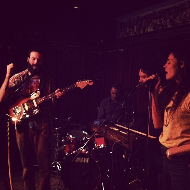 Farallons live at Smiley's; photo by Ashley Brock
