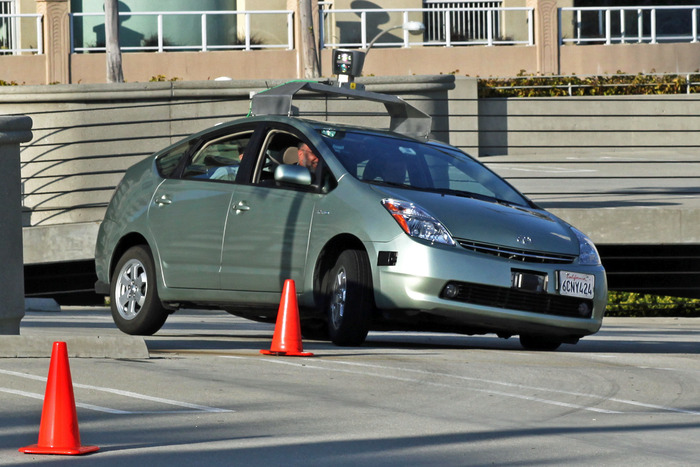 Google's self-driving car in action
