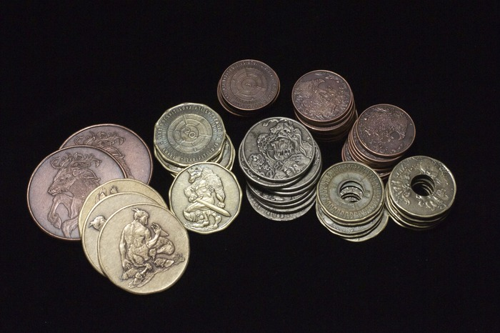 Alignment currency set. (60 coins)