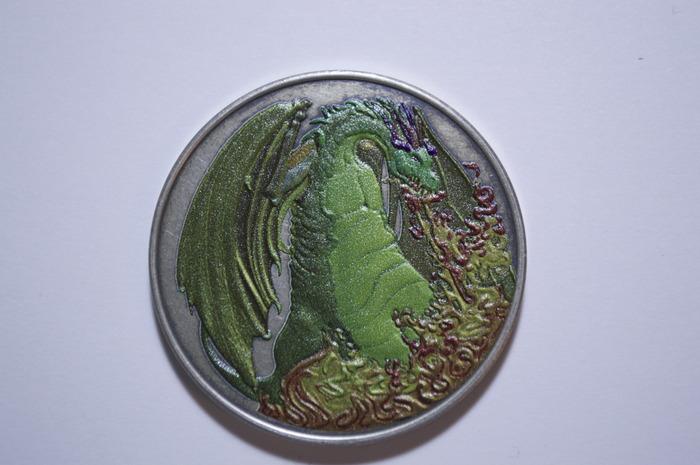 Color Fire Dragon coin