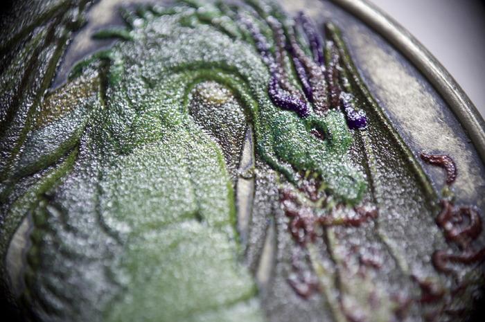 Color Fire Dragon, detail
