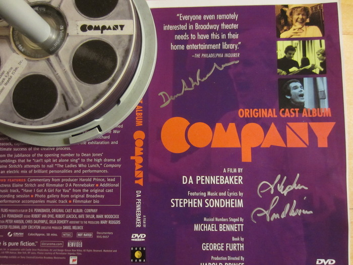 """Limited Edition copy of """"Company,"""" signed by Stephen Sondheim and Penny"""