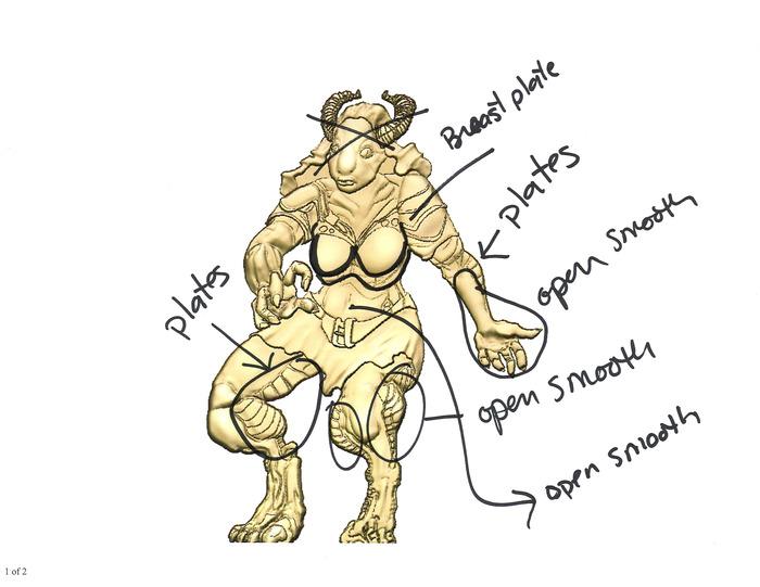 Half-Dragon digital rendering