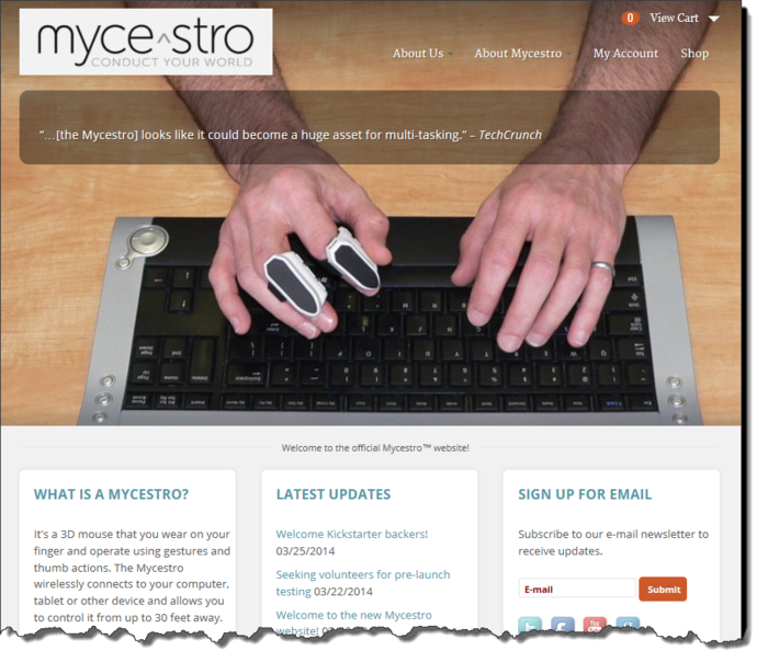 Our new website's homepage