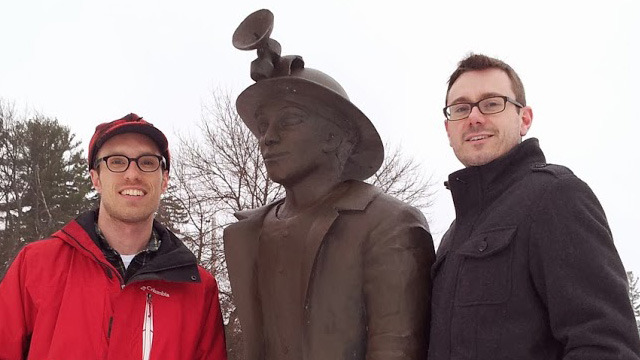 Scott, the Miner, and David in Houghton, MI.