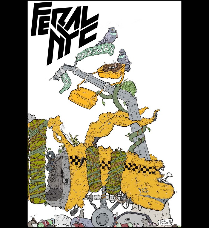 Feral NYC #1 Front cover (wraparound version)