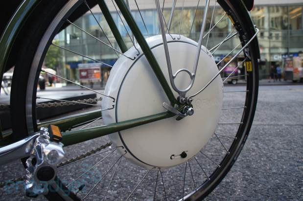 The amazing Flykly wheel - pedal assist for any bicycle. Also funded by Kickstarter!