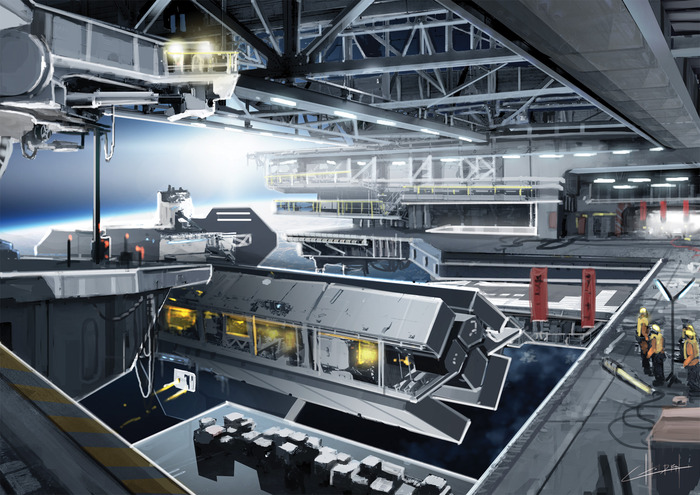 An orbital shipyard