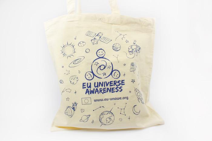The UNAWE printed canvas bag