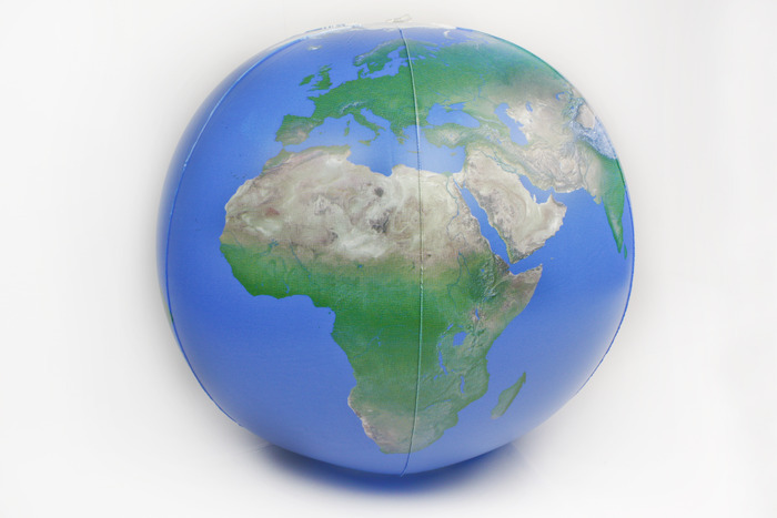 Earthball, a globe without political borders