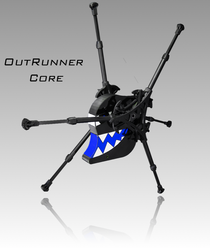 OutRunner Core and Performance robots have the same overall look. Shown with shark theme, other themes available. Features, performances and sizes differ