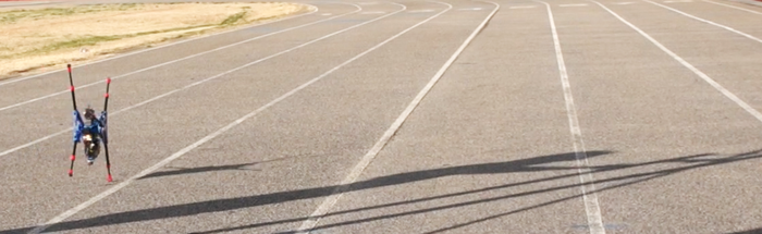 OutRunner prototype at the race track