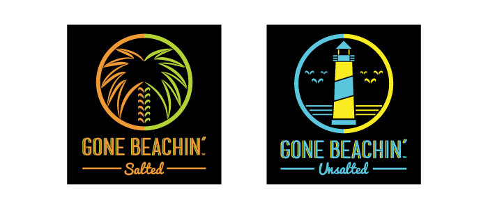 Gone Beachin' Salted and Unsalted logos
