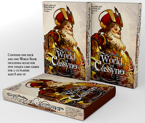 (cover mockup only; game box includes one deck and World Book)