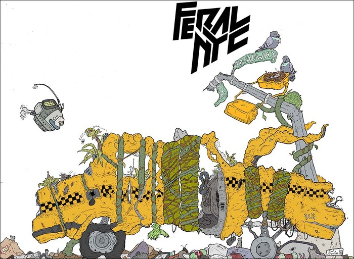 Feral NYC #1 Wrap Around Cover by Chris Pyrate