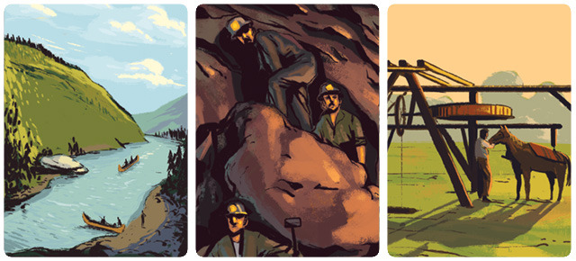 Copper Country includes over 100 unique illustrations that capture the essence and history of Copper Country, beautifully created by Chris Park of Plantmonster Studios!