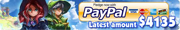 Pledge through PayPal