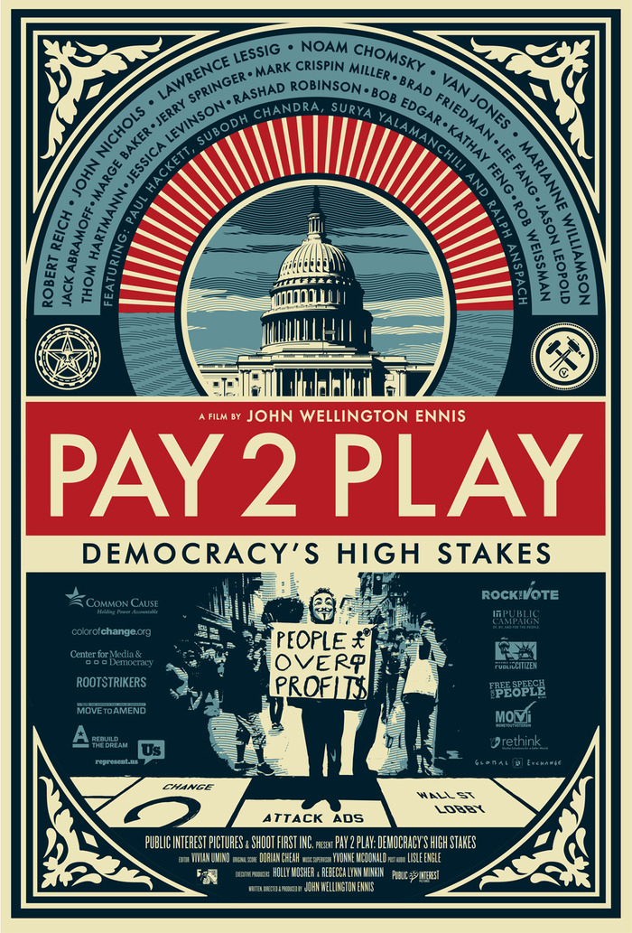 The PAY 2 PLAY Poster by Shepard Fairey!