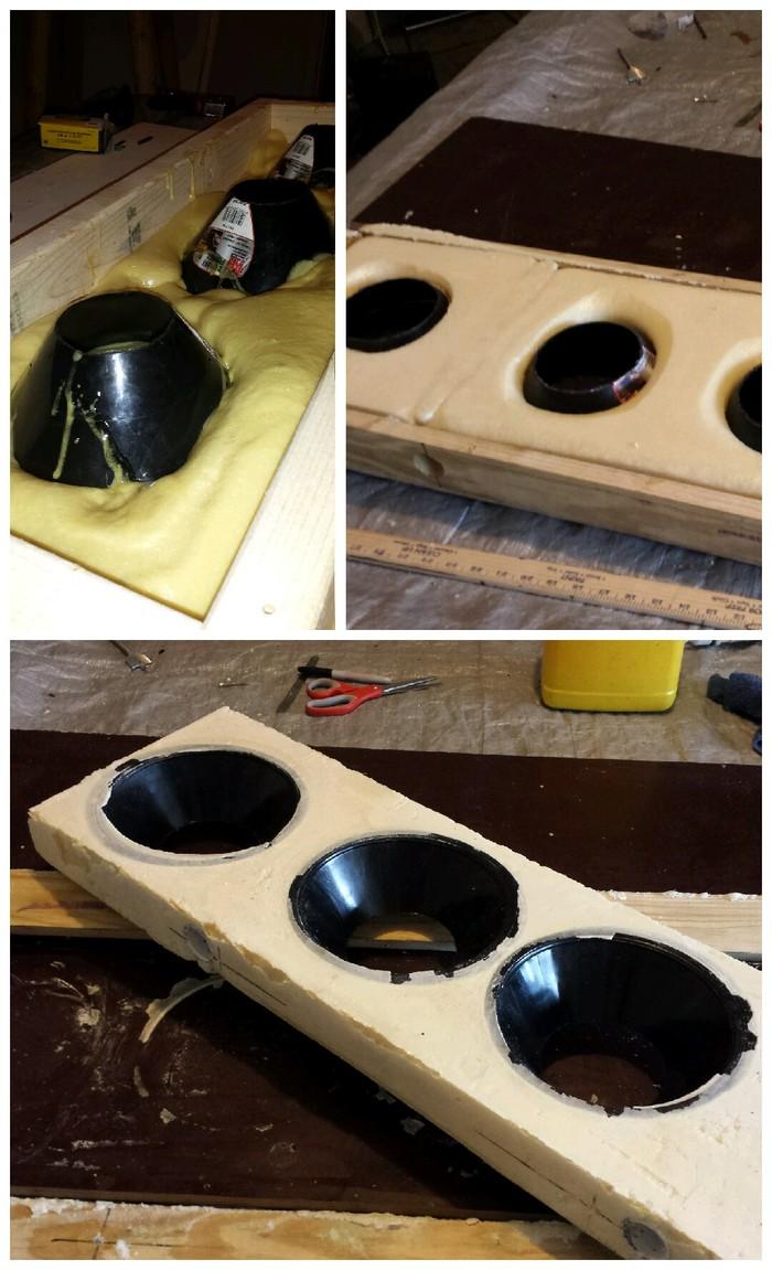 Rigid foam manufacturing process