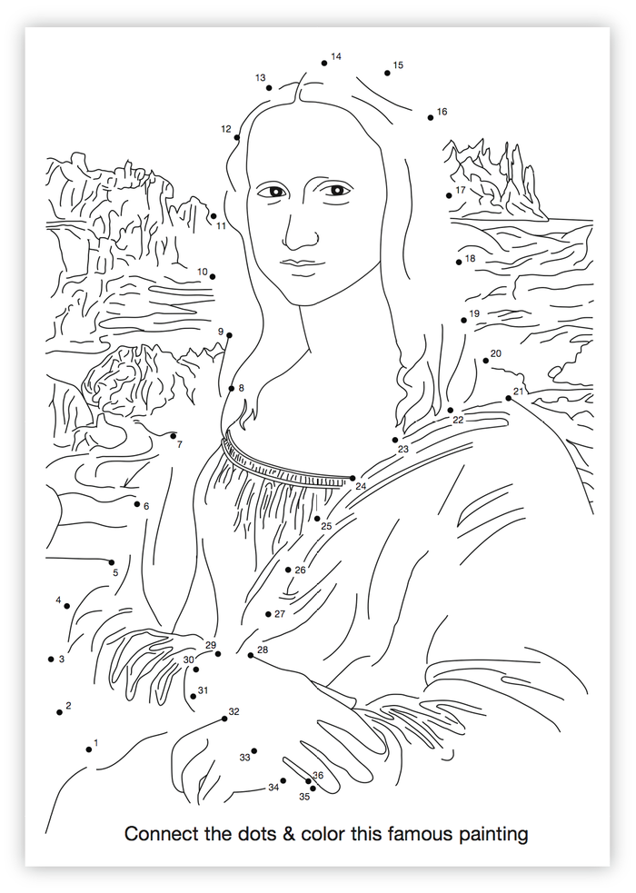 Step into da Vinci's shoes to finish and paint the Mona Lisa