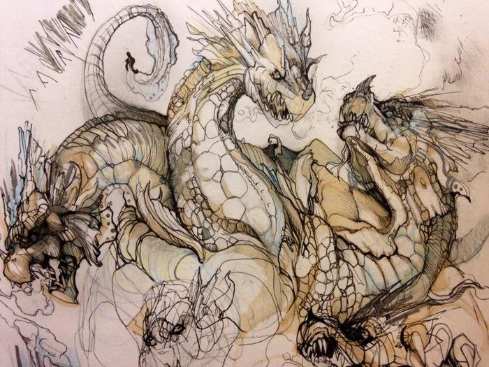 True Neutral, Ice Hydra, 1000 Denom - Concept art