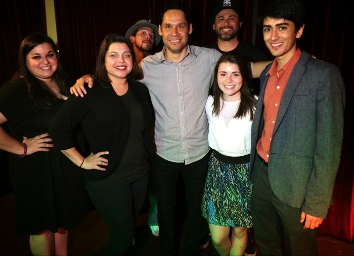 Alex and Mariana at Austin Latino Film Association's soft-launch, where they were featured as artists of the week.