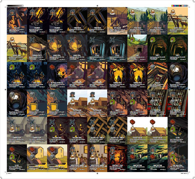 An example of what one of the uncut sheets may look like. Each sheet contains 54 cards.