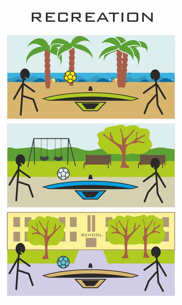 Teqball - Beach / School / Hotel / Park / Garden